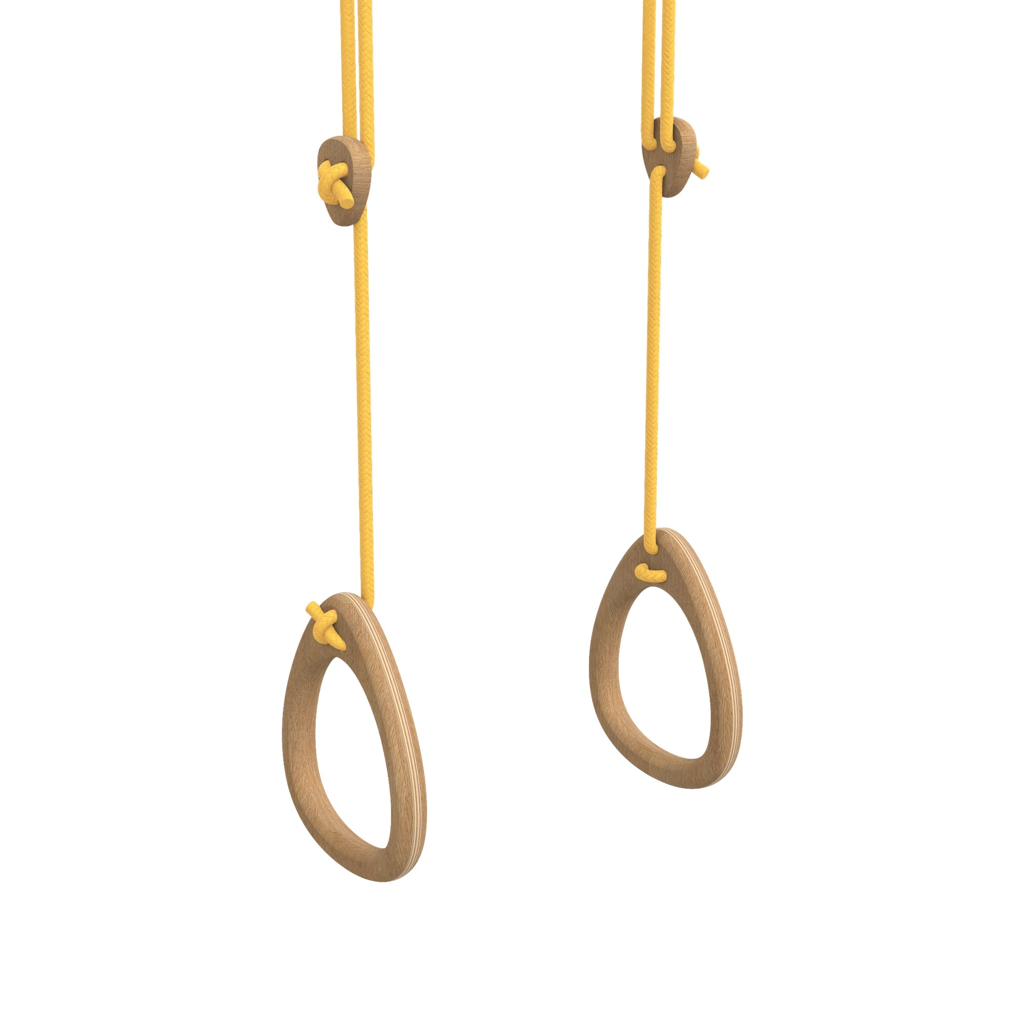 Lillagunga gym rings - Oak - Yellow