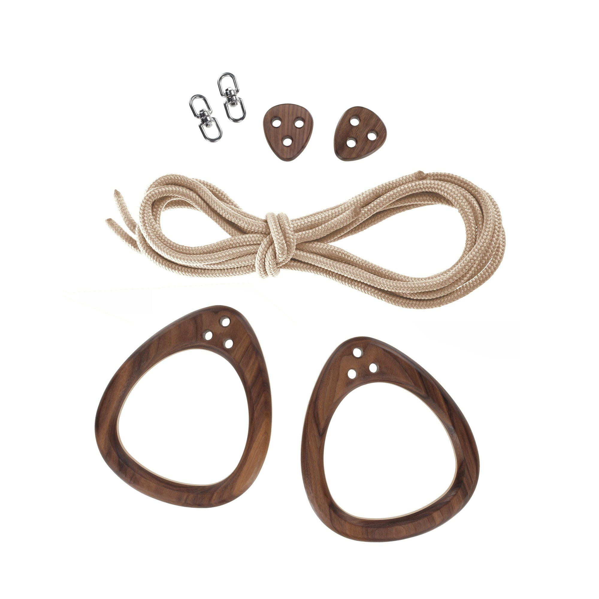Lillagunga Rings - Walnut - Beige