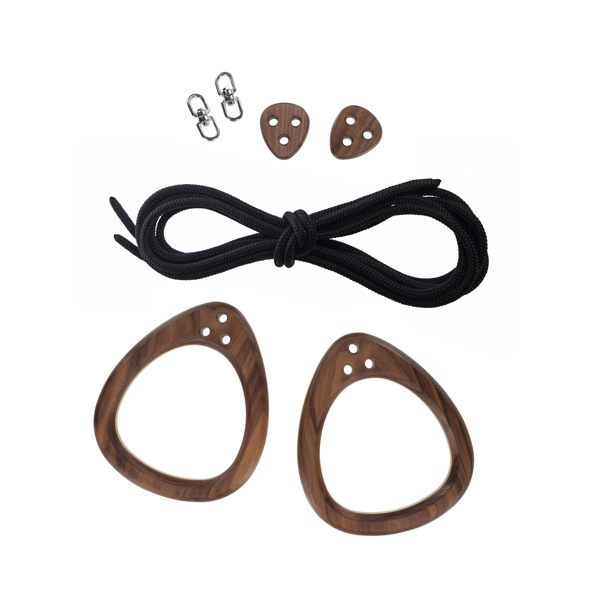 Lillagunga Rings - Walnut - Black