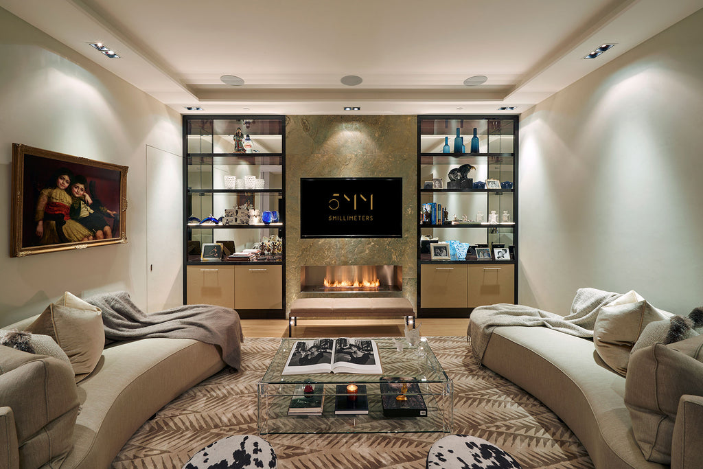 Living Room Design - Cavendish Square Apartment - 5mm Design Store London