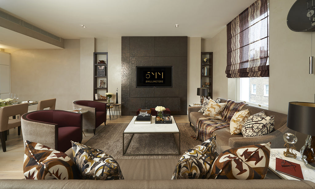 Living Room Interior Design - Marble Arch Apartment - 5mm Design Store London