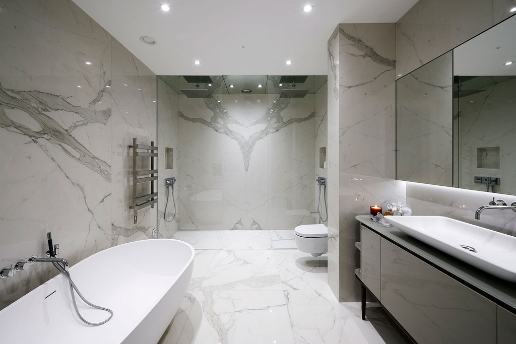 Marble Bathroom Interior Design - Cavendish Square Apartment - 5mm Design Store London