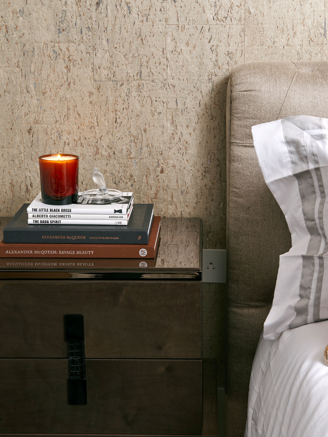Residential Interior Design | Bedroom Design | Bedside Table Styling | Luxury Interiors | Cavendish Square Apartment | 5mm Design London