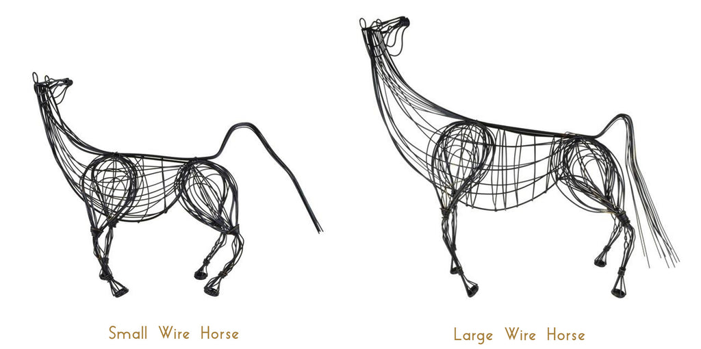 Wire Horse Sculpture - Luxury Home Accessories - 5mm Design Store London
