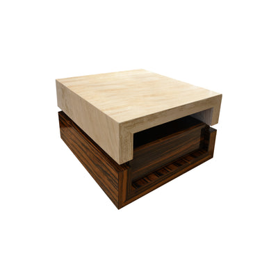 Travertine Side Table - Luxury Furniture - 5mm Interior Design Store