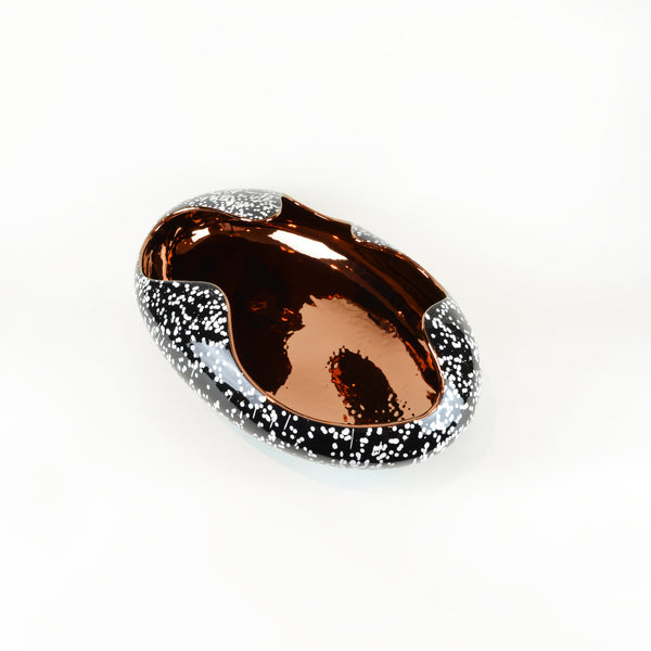 Egg Bowl Black Marble & Copper - Luxury Home Accessories & Decor - 5mm Design Store London