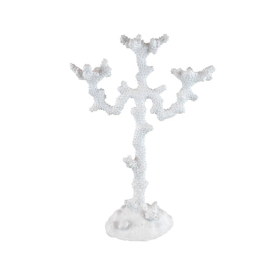 Coral Candle Holder - View 1 - Candle Holder. Faux Coral home accessories. White colour. Material: Sandstone Dimensions: Overall W33 D14 H46cm. Dinner Party and Home Entertaining accessories. Create mood lighting with candle light. Nature theme home decor