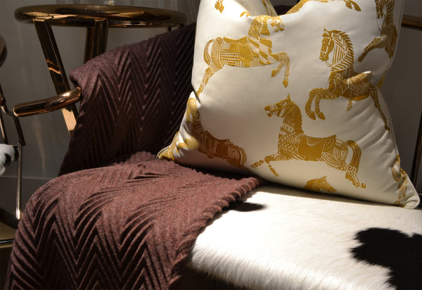 Hermes Horse Cushion - Home Accessories - 5mm Design Store London