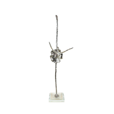 Black Swan Ballerina Sculpture - View 1 - Decorative Object / Sculpture. Silver / Pewter Colour. Abstract Figurine Sculpture. Materials: Nickel, Clear Acrylic. Dimensions: W13 D6.5 H42cm. Ballet & Dance theme home accessories. Feminine home decoration. Sm