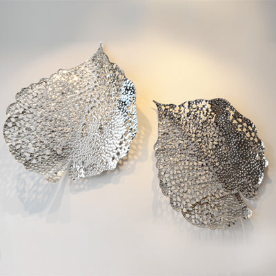 Silver Leaf - 3D Sculptural Wall Art & Decor - 5mm Design Store London