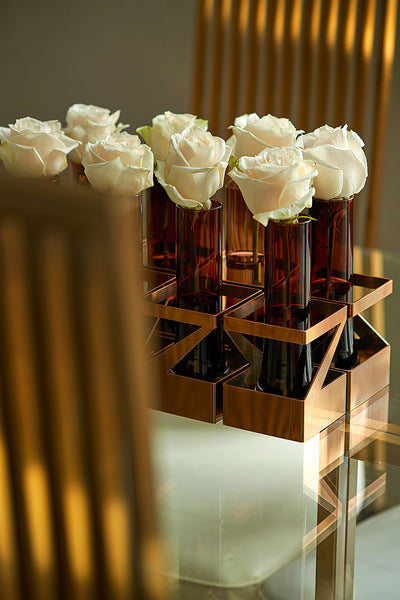 Z Copper Vase - Luxury Home Accessories - 5mm Design Store London