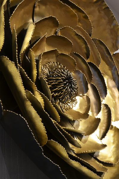 Gold Peony - 3D Sculptural Wall Art & Decor - 5mm Design Store London