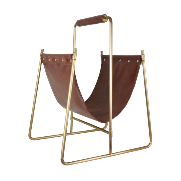 5mm Interior Design Store - Decorative Home Accessories - Leather Swing Magazine Holder