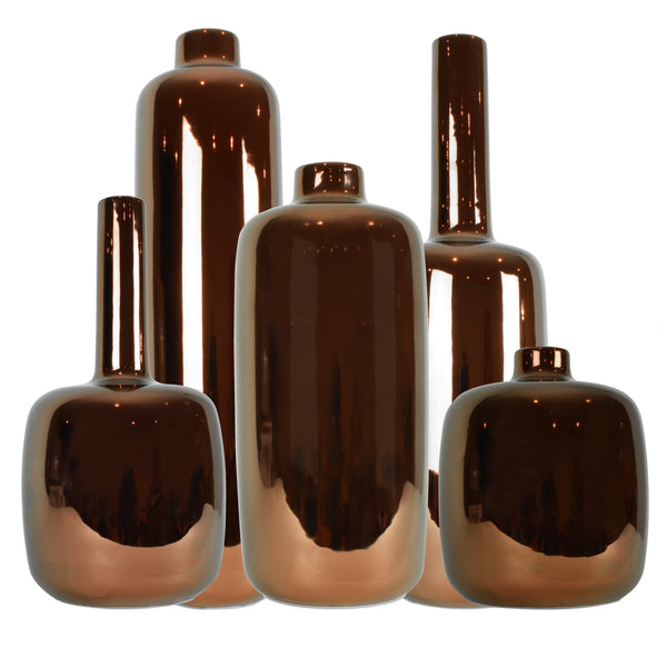 Copper Bottle Vases - Home Accessories - 5mm Design Store London