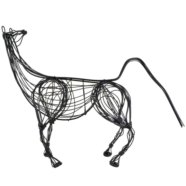 Wire Horse Sculpture -Luxury Home Accessories- 5mm Design Store London