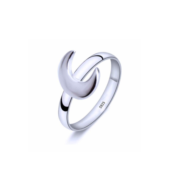 925 Sterling Silver Moon Ring