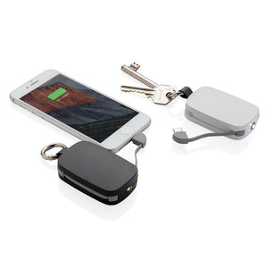 1.200 mAh Keychain Powerbank with Integrated Cables - The Luxury Promotional Gifts Company Limited