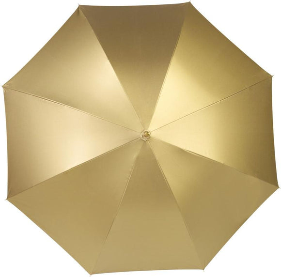 Metallic Gold or Silver Double Layered Walking Umbrella - The Luxury Promotional Gifts Company Limited