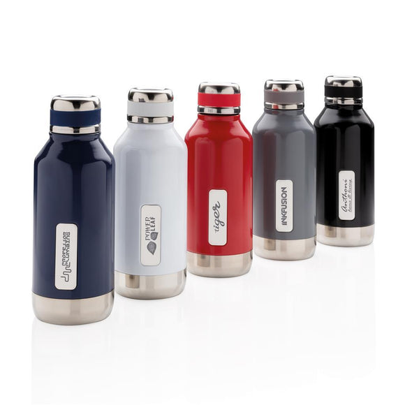 Leak Proof Vacuum Bottle with Logo Plate - The Luxury Promotional Gifts Company Limited