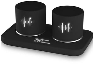 S40 Light-up Dual Stereo Speaker Station - The Luxury Promotional Gifts Company Limited