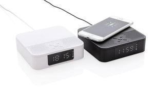 Wireless Charging Speaker with Time Display - The Luxury Promotional Gifts Company Limited