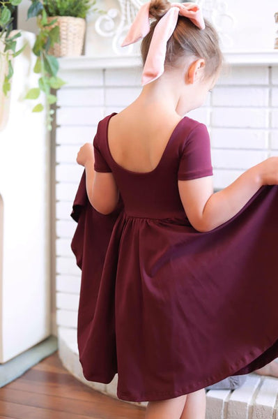 The Bella Dress in Plum