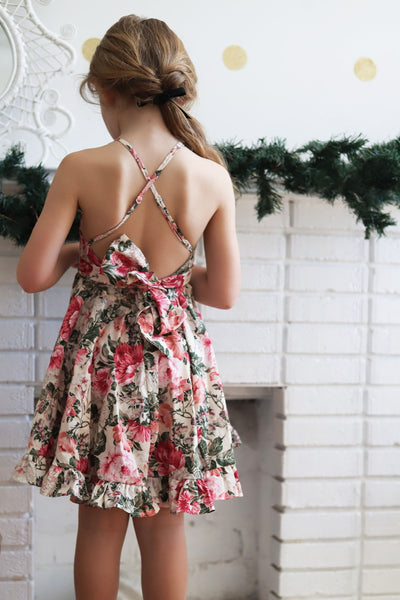 The Christmas Romper in Red and Eve Floral