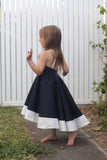 The Clara Dress in Navy