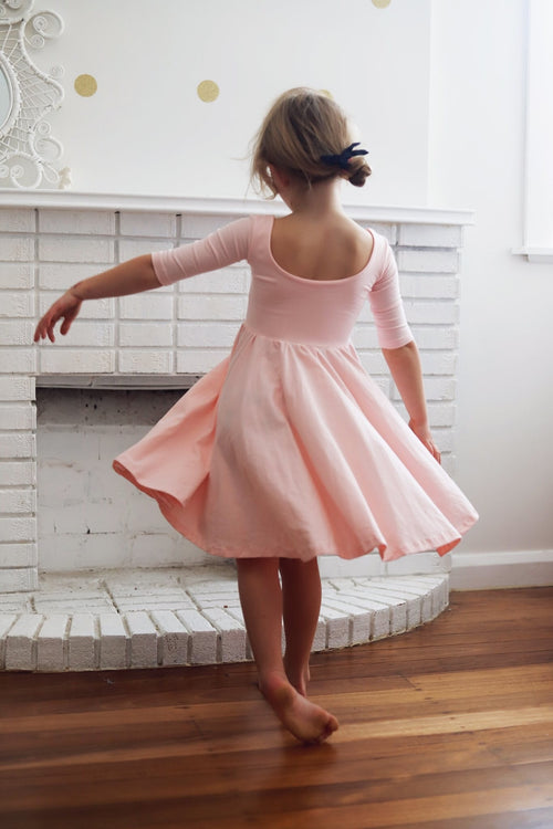 The Ballet Pink Sleeved Bella Dress