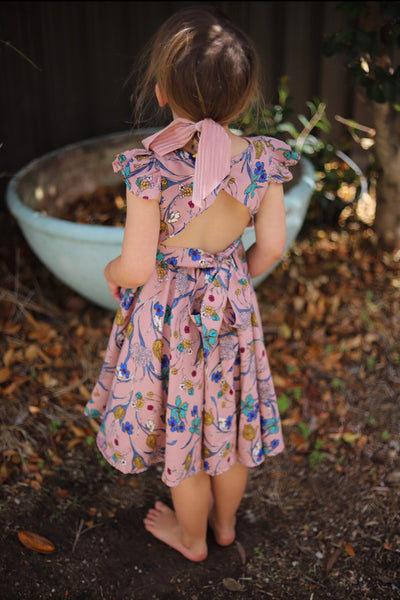 Lola Dress in Mauve Floral