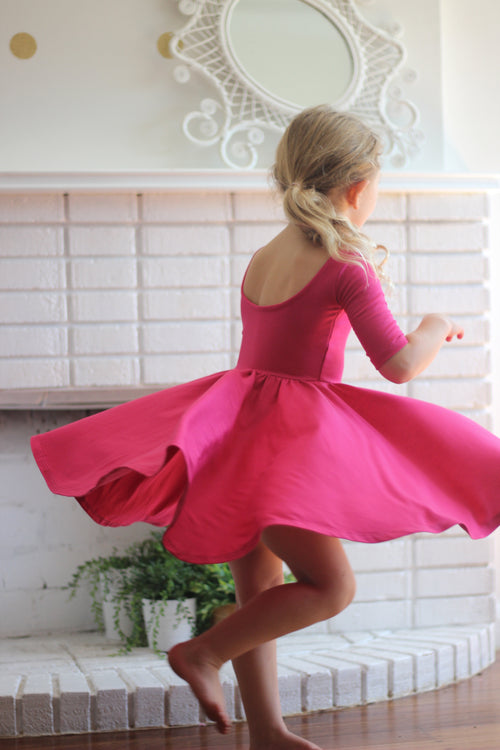 The Bella Dress in Fuchsia