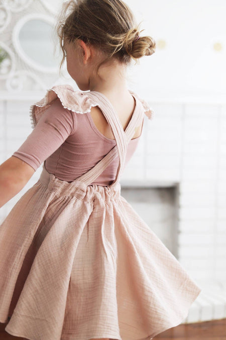 The Ruffle Sunday Pinafore in Tara