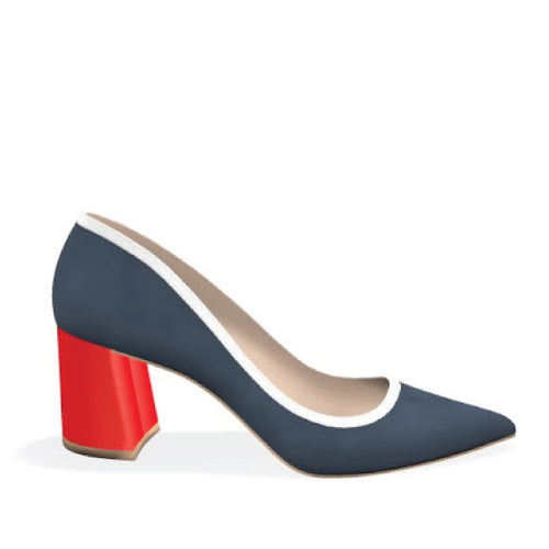LETTY - NAVY RED
