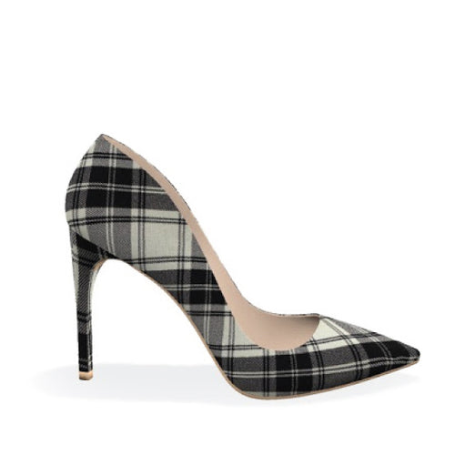 SHARP 100 - BLACK WHITE PLAID