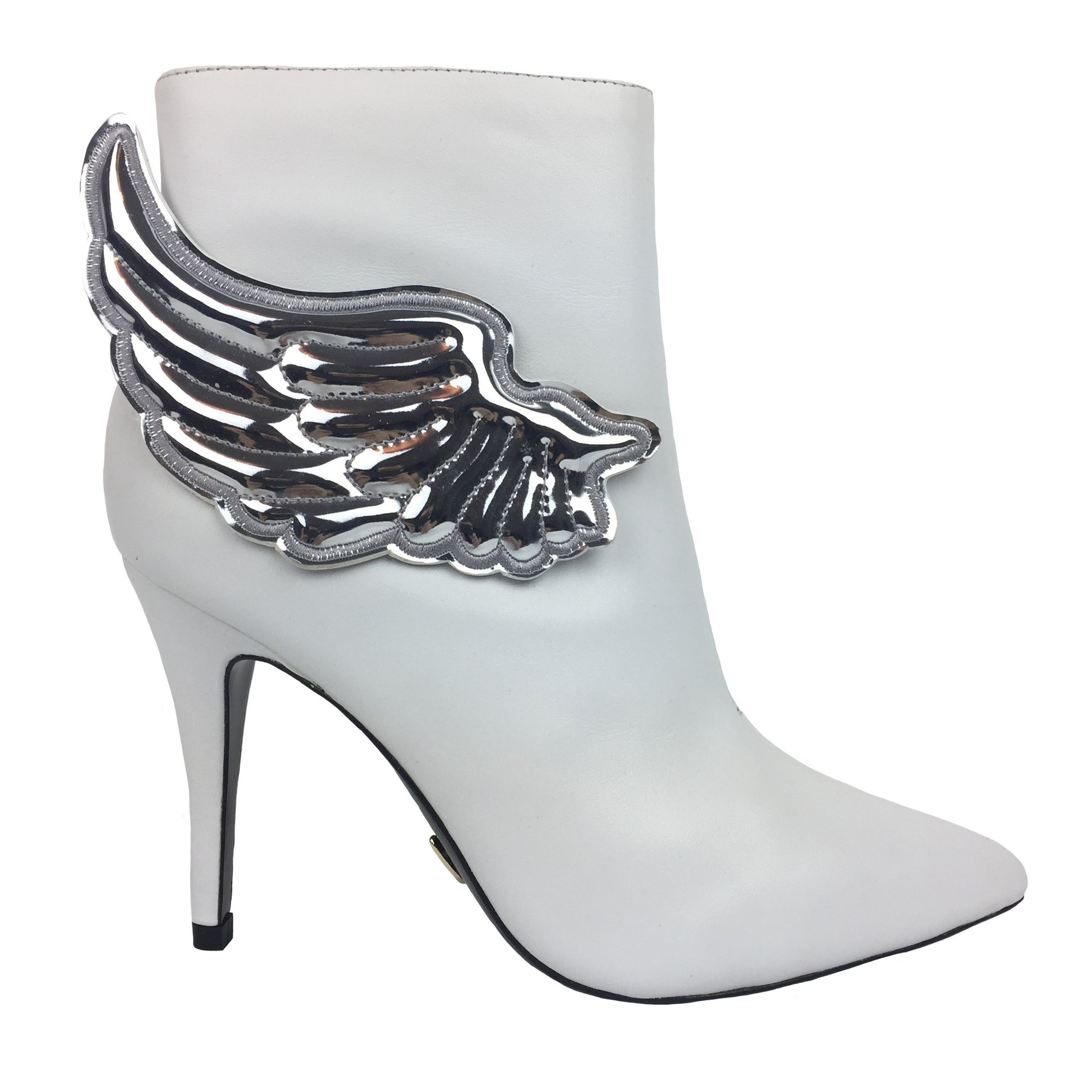 17ec296a4 ANGEL WING HEEL BOOTS WHITE AND SILVER – Nookiee
