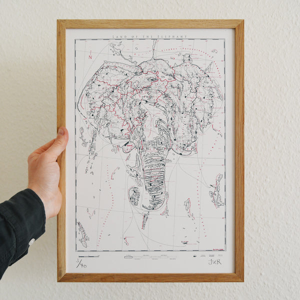 Elephantidae - Land of the Elephant - A3 - Limited Edition