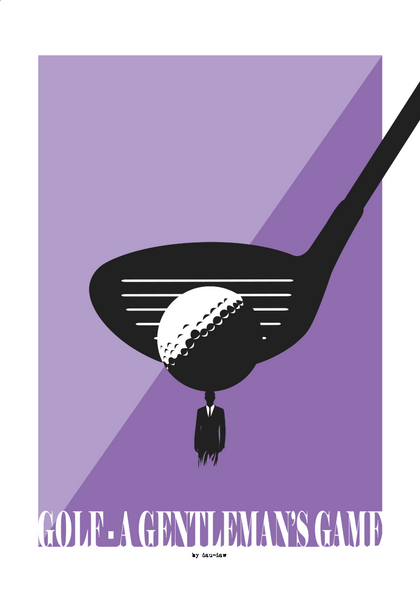 golf a gentleman game poster by dau-daw