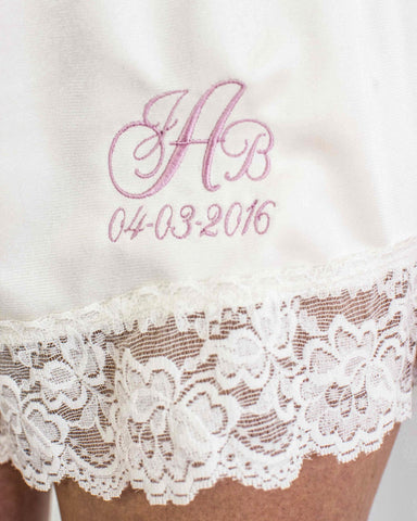 Custom Bridal Bloomer