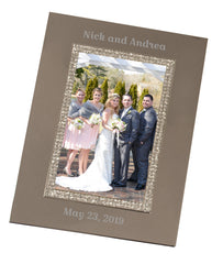 Personalized Sparkling Silver 4x6 Picture Frame