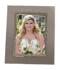 Personalized Sparkling Silver 5x7 Picture Frame