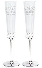 Personalized Kate Spade Grace Ave Toasting Flutes Set of 2