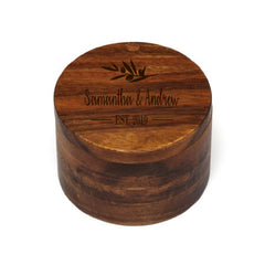 Personalized Lipper Acacia Swivel Cover Salt Box