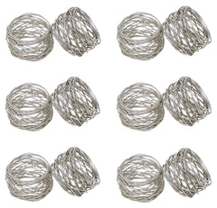 Godinger Silver Round Mesh Napkin Rings, Set of 12