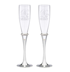 Personalized Lenox Devotion Toasting Flutes Set of 2