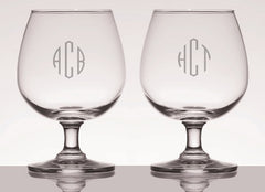 Personalized 12oz Brandy Glasses, Set of 2