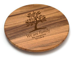 "Personalized Lipper Acacia 18"" Lazy Susan"
