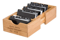 Personalized Lipper Bamboo Expandable Business Card Holder