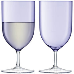 LSA International Pale Violet Hint Wine/Water Glasses, Set of 2