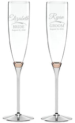 Personalized Kate Spade Rosy Glow Toasting Flutes Set of 2