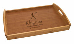 Personalized Lipper Bamboo Veneer Bottom Tray